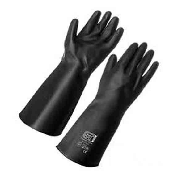 Black Heavy Duty Rubber Gloves Pair Vip Clean