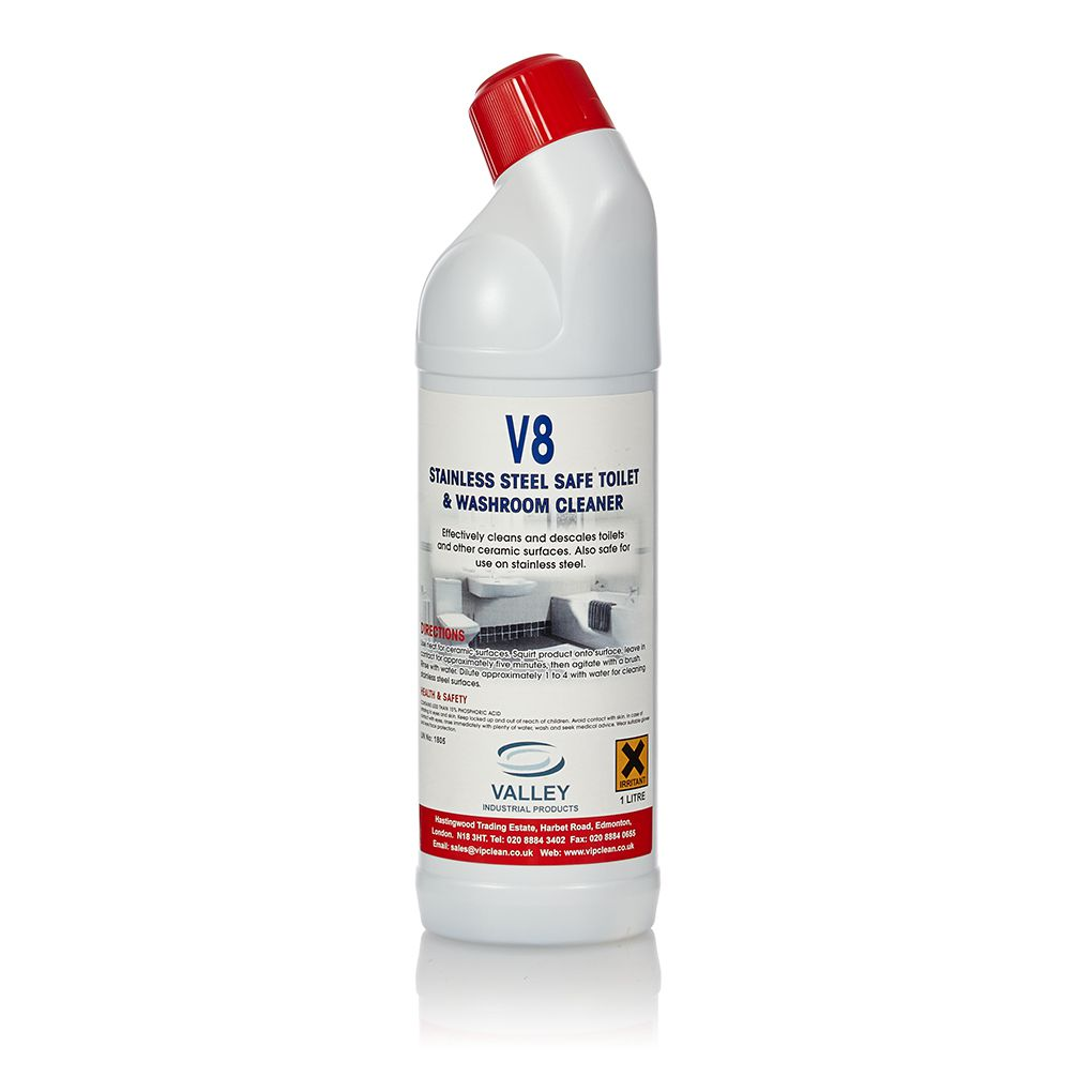 Washroom Products: VALLEY 8 Washroom & Toilet Cleaner 1x12 X1litre