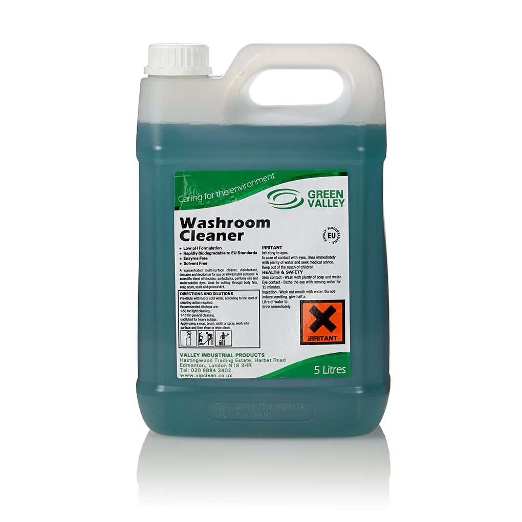 Washroom Products: GREEN VALLEY Washroom Cleaner X5 Litres