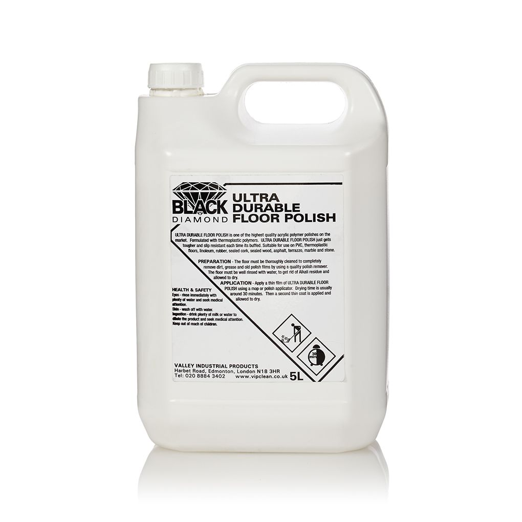 Black Diamond Ultra Durable Wetlook Floor Polish 5l Vip