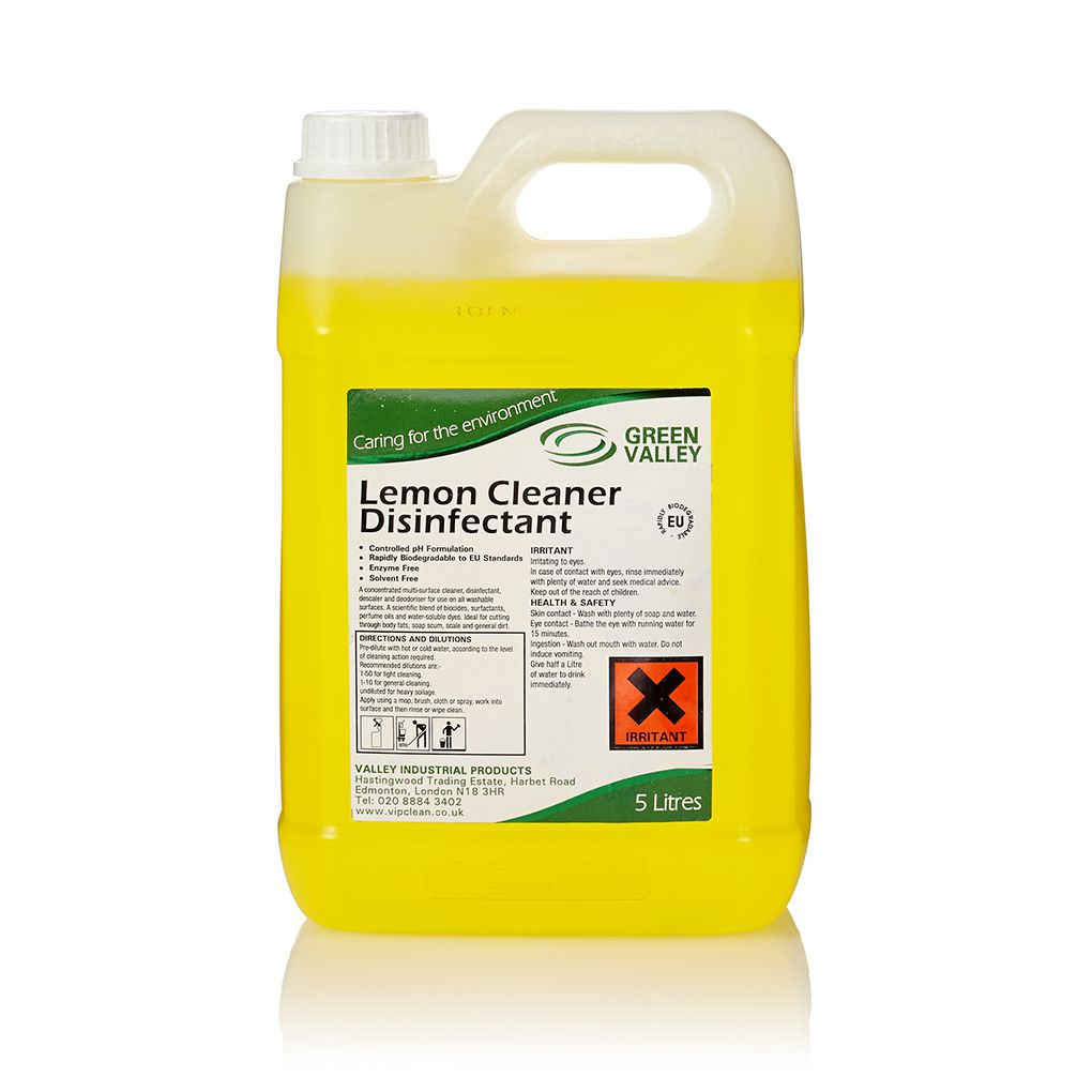 Green Valley Lemon Cleaner Disinfectant 5l Vip Clean