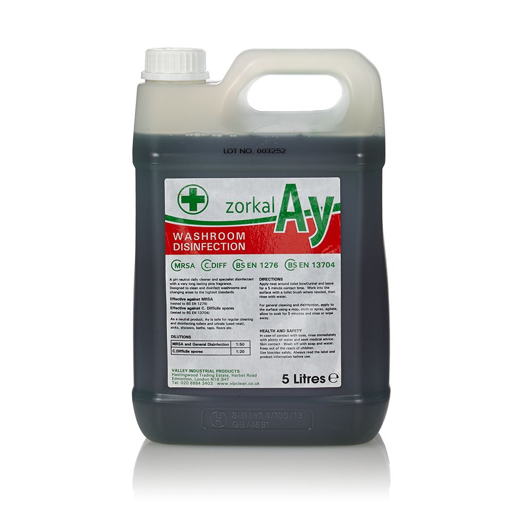 Washroom Products: Zorkal AY Perfumed Washroom Cleaner And Disinfectant 5L