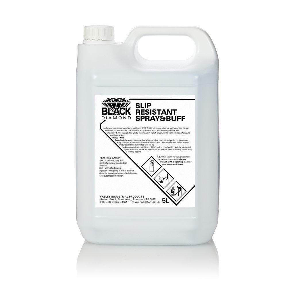 BLACK DIAMOND slip resistant spray and buff 1x2x5 litres  : BDSlip Resistant Spray and Buff from vipclean.co.uk size 1020 x 1020 jpeg 50kB